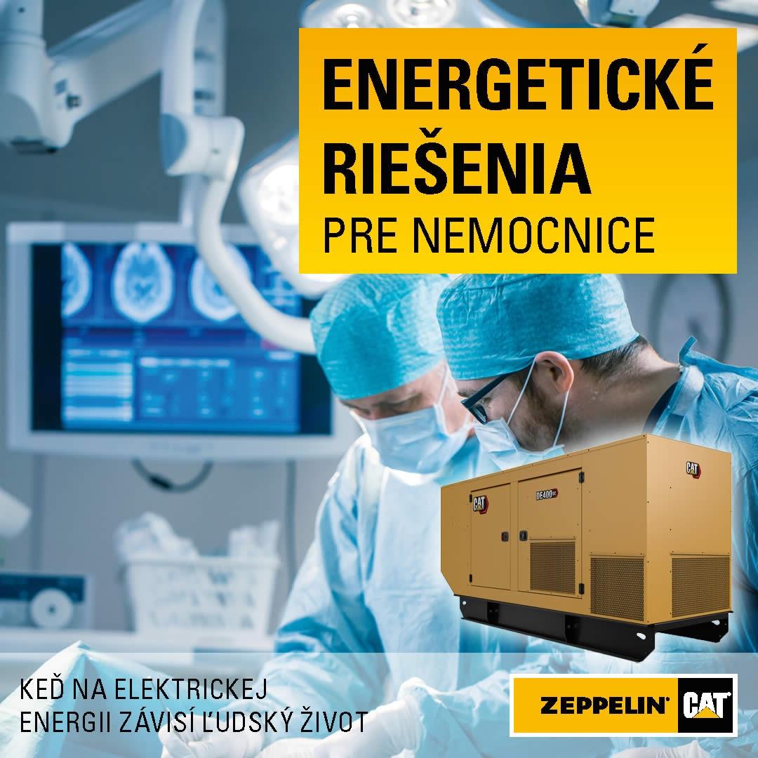 Záložné napájanie pre nemocnice od Zeppelin SK