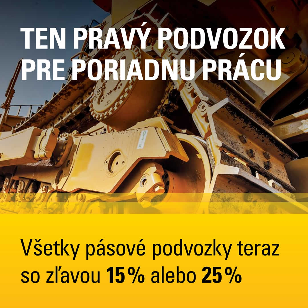 Všetky pásové podvozky teraz so zľavou 15% alebo 25%