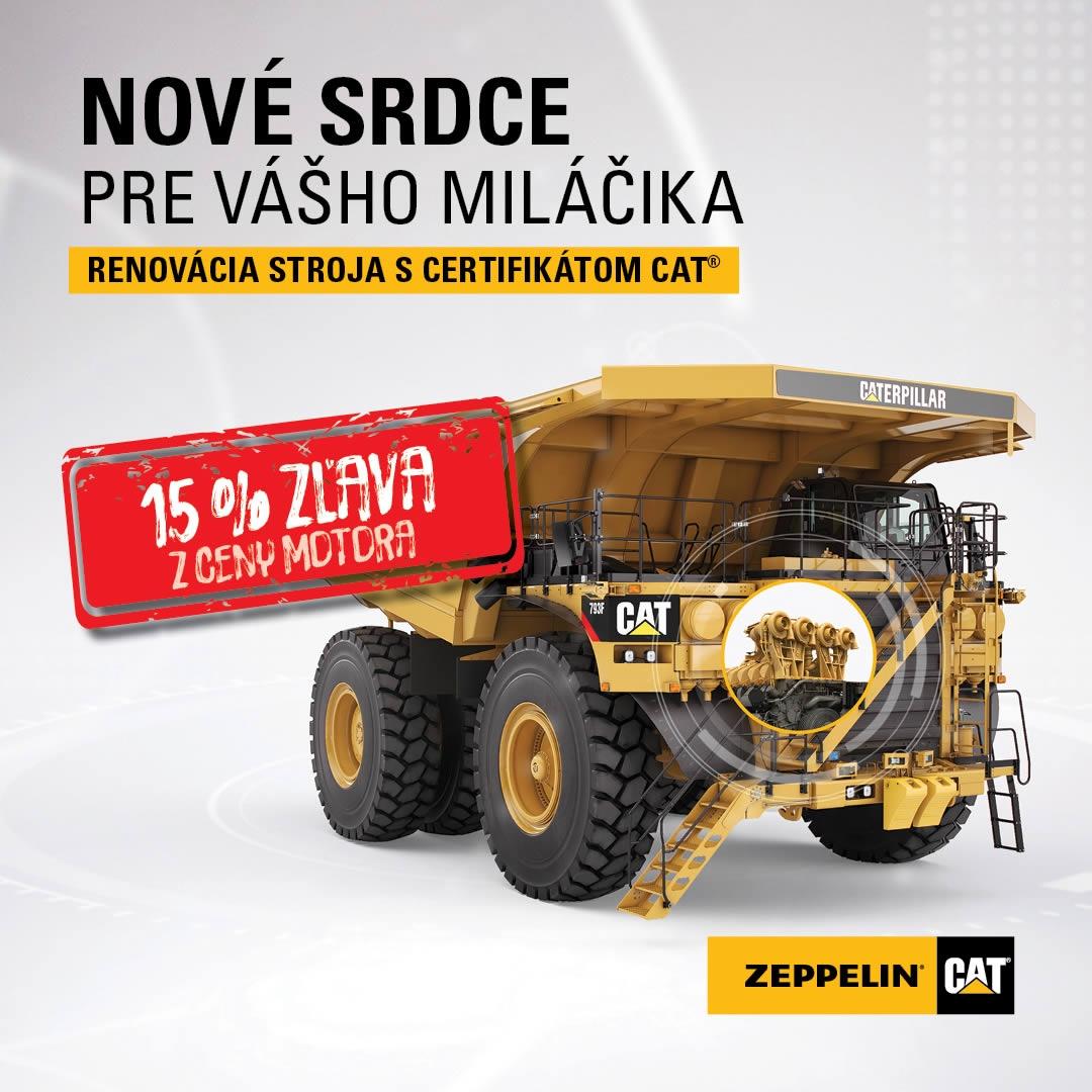 15% zľava z ceny motora pre vybrané druhy stavebných strojov Caterpillar