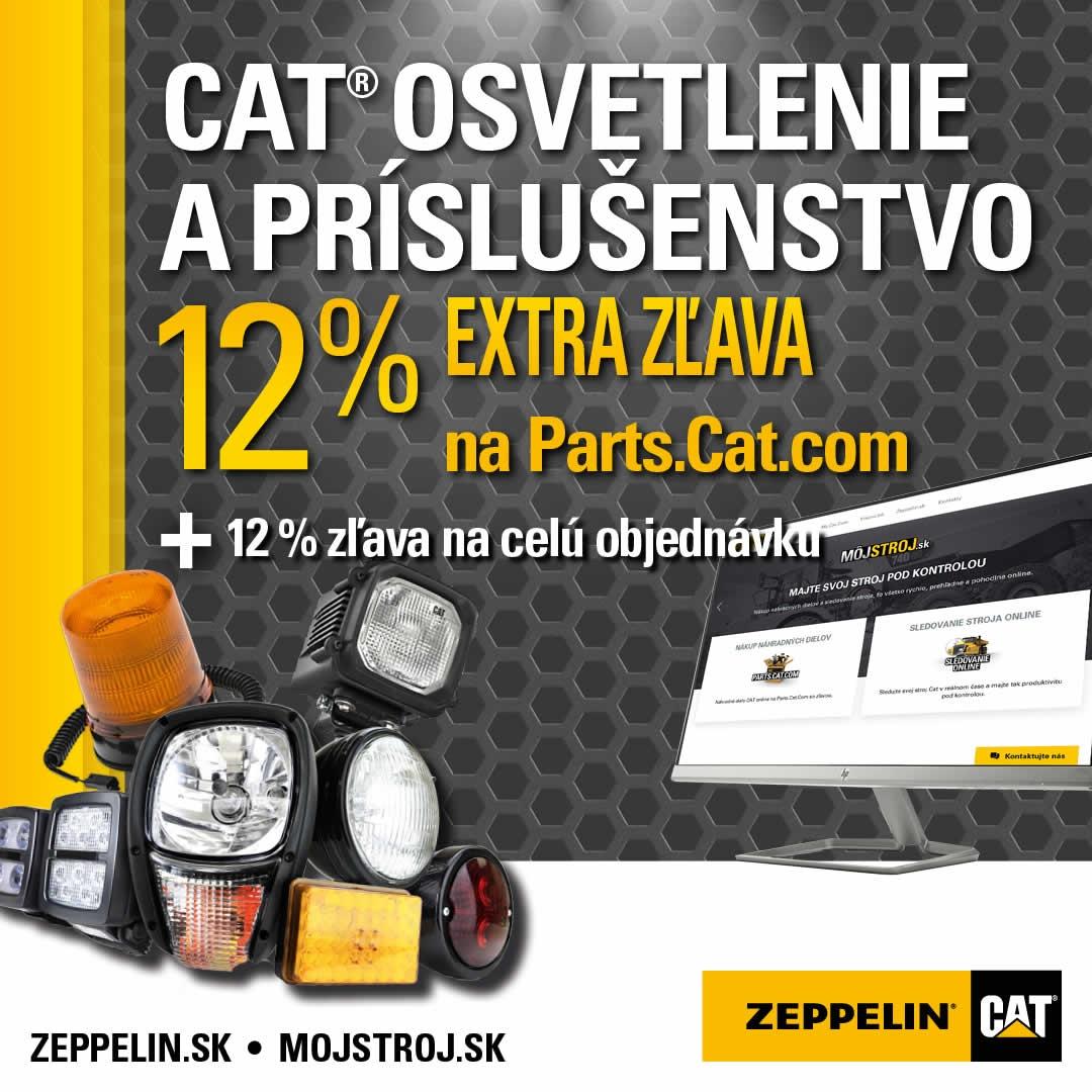 Pri kúpe Cat osvetlenia a jeho príslušenstva teraz získate 12% zľavu cez Parts.Cat.com + navyše 12% zľavu na celú objednávku.