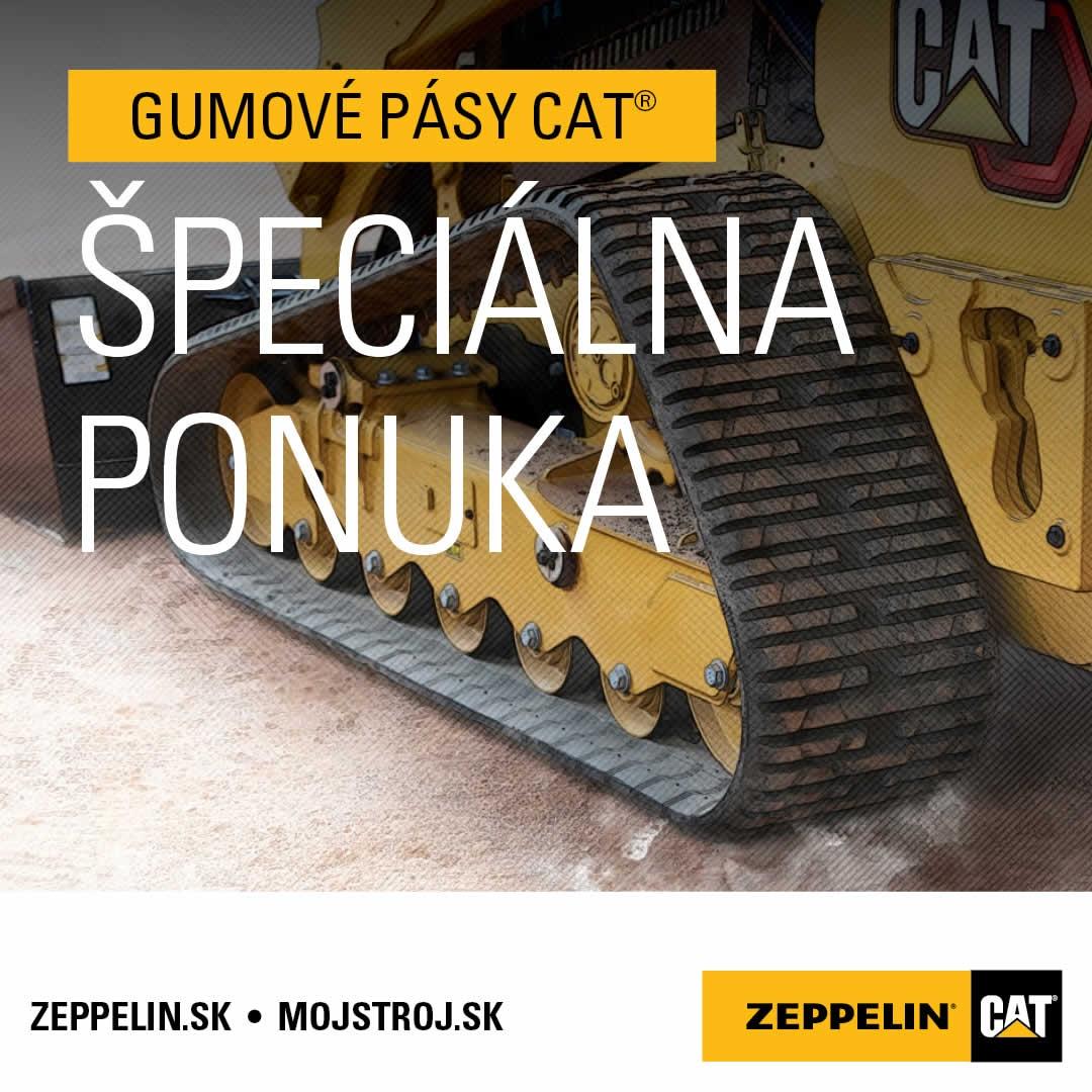 Gumové pásy Cat GENERAL DUTY teraz ešte výhodnejšie
