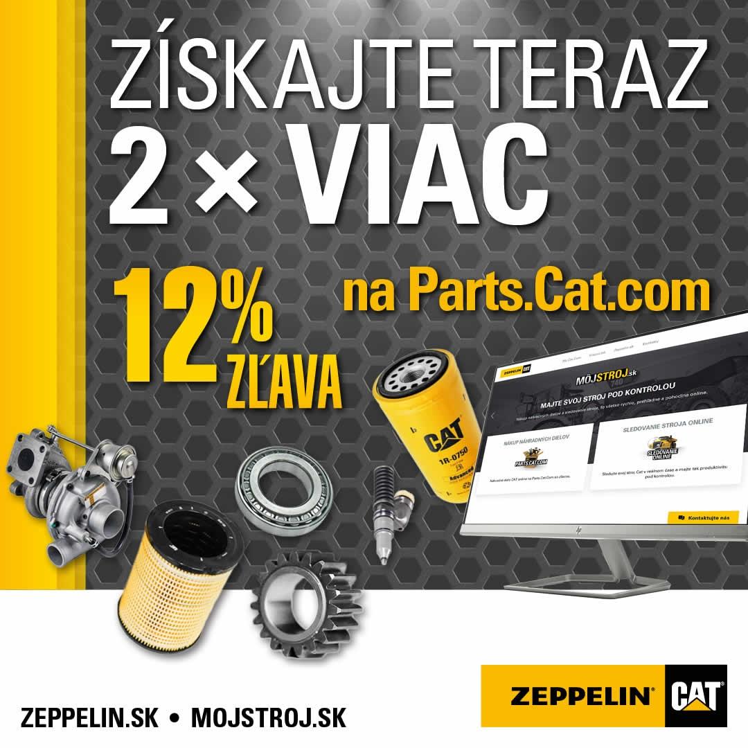 Získajte teraz 2x viac. Pri kúpe ND cez Parts.Cat.com získate teraz 12% zľavu.