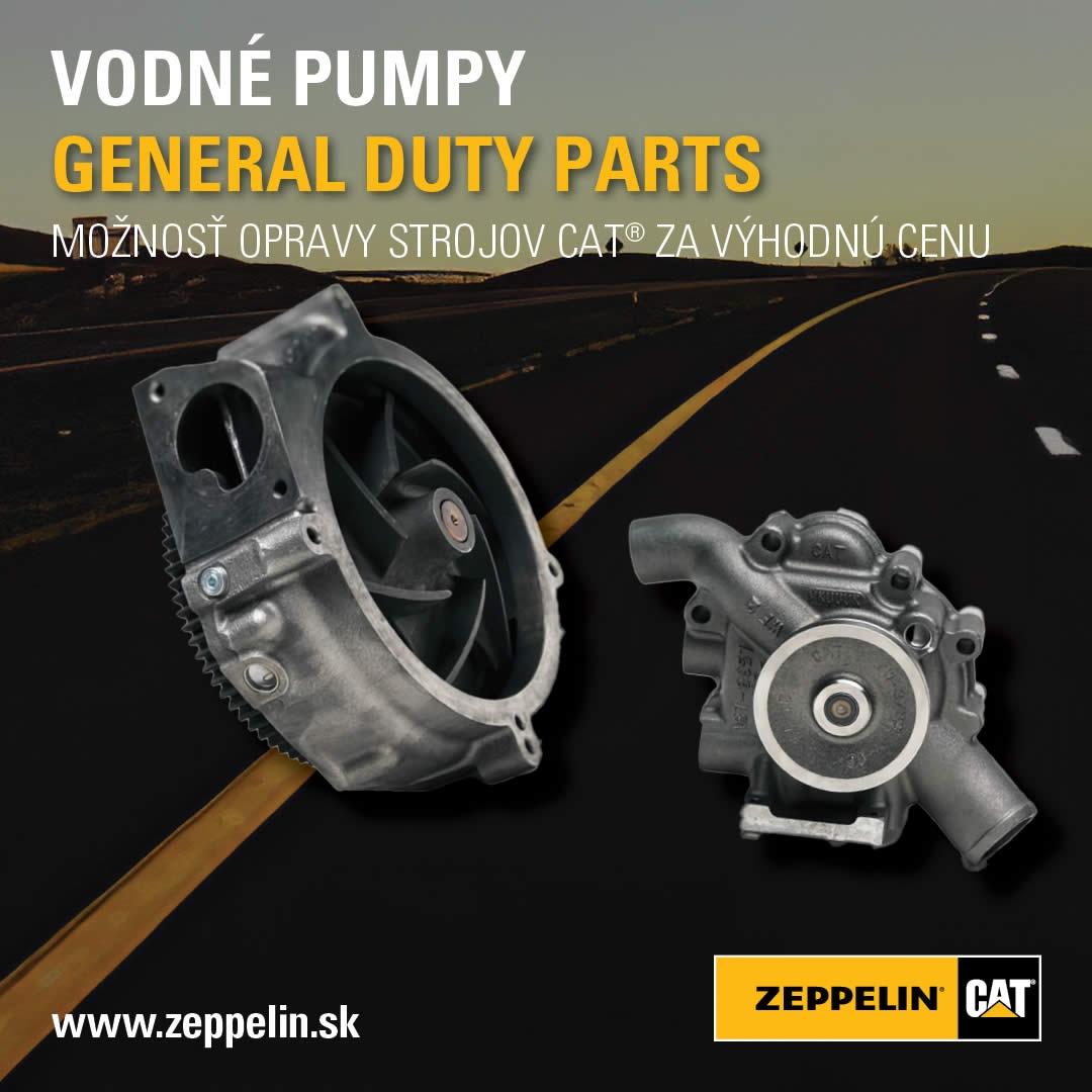 Vodné pumpy CAT® a General Duty Parts