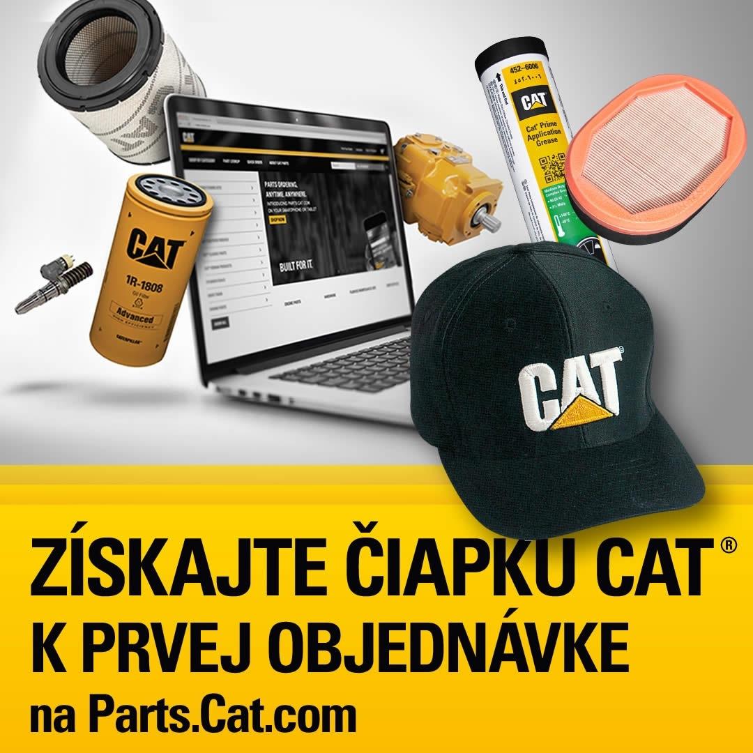 Získajte originálnu čiapku Cat k prvej objednávke na Parts.Cat.com